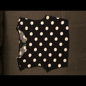 Forever 21 Polka Dot Crop Top